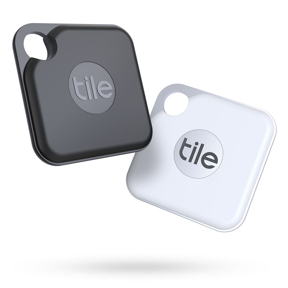 Tile, Inc Tile Pro (2020) - 2 Pack; High Performance Bluetooth Tracker, Item Locator for Keys, Bags, and More