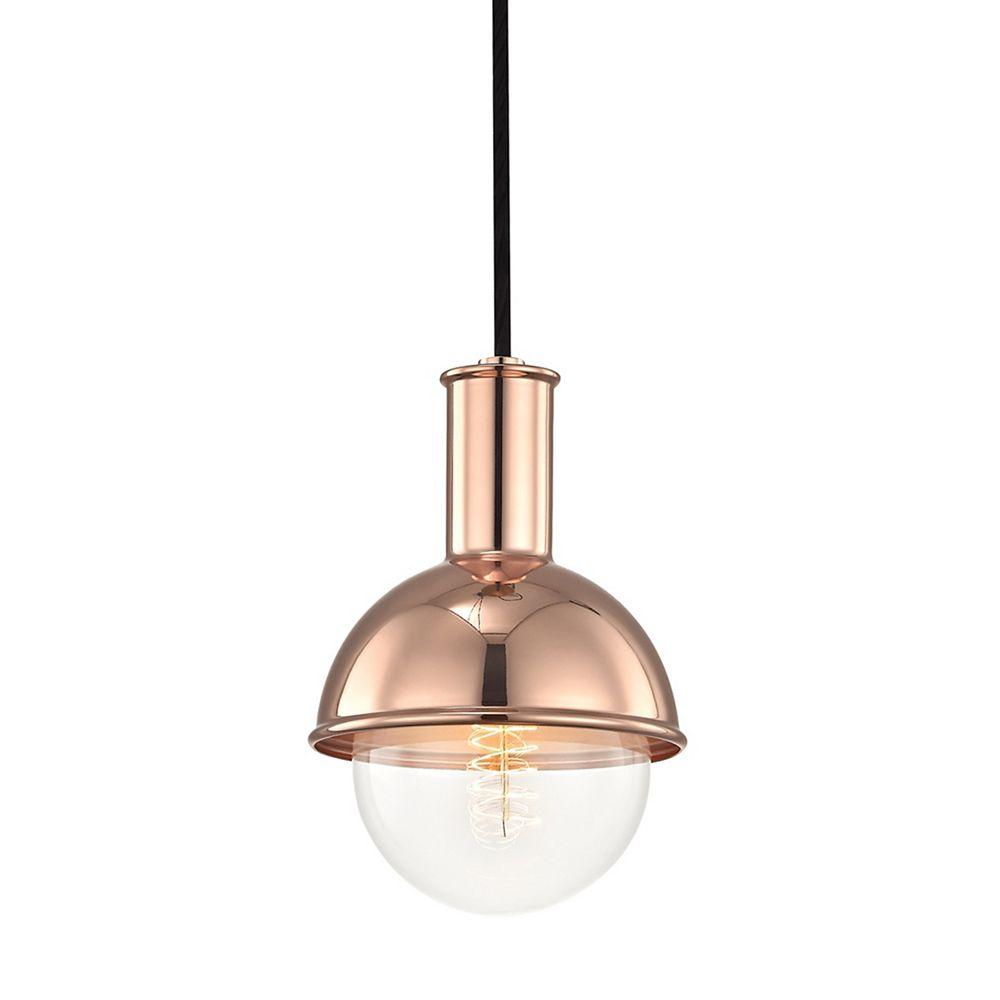 Mitzi by Hudson Valley Lighting Riley 1-Light Polished Copper Pendant