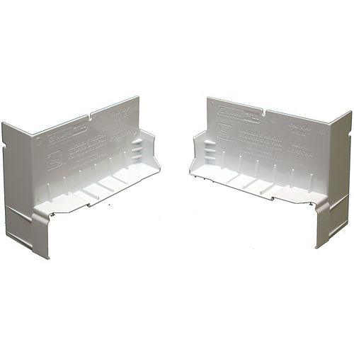 4 9/16-inch Sloped Sill Pan End Caps ( Box of 20 pairs)