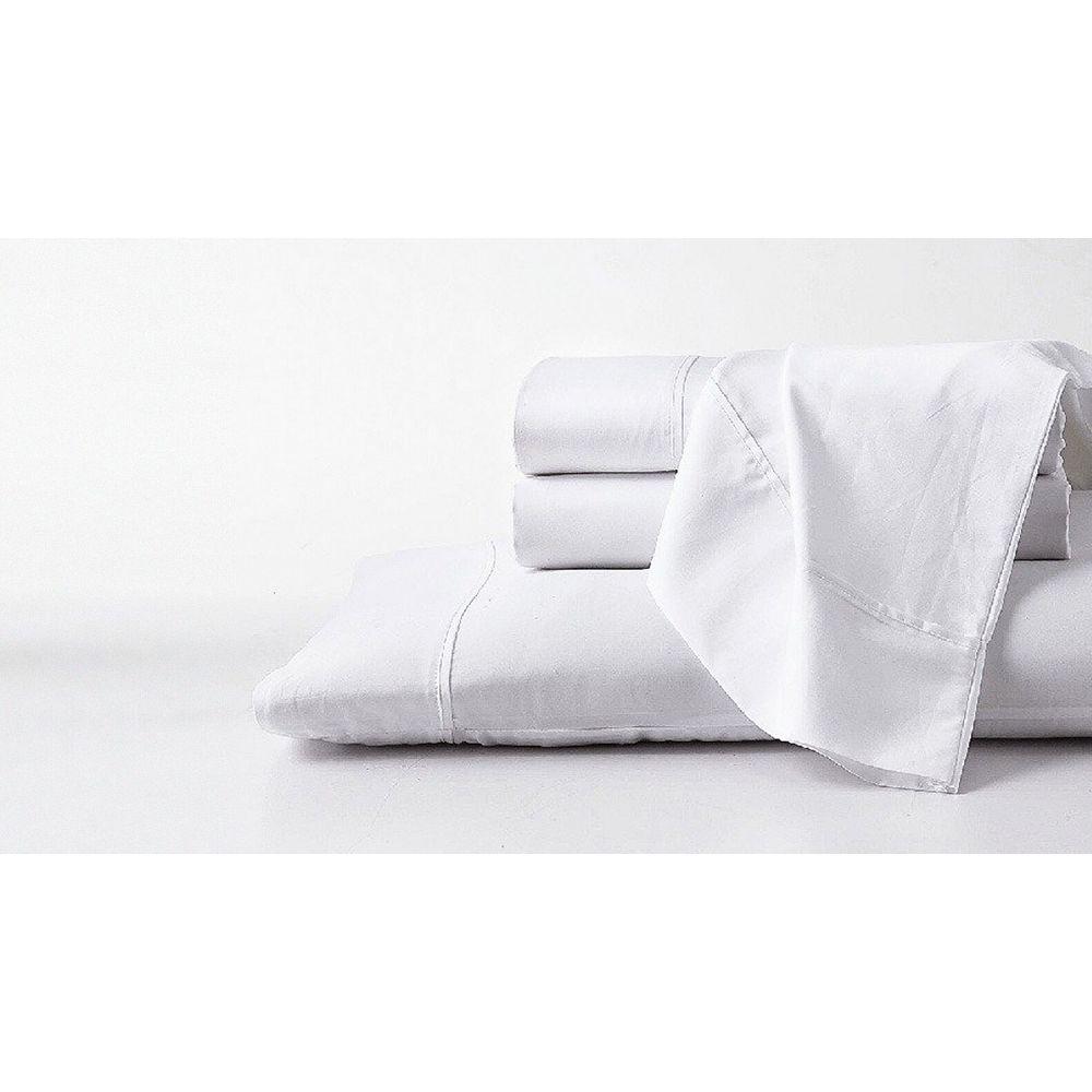 GhostBed Ensemble de draps doux de luxe GhostBed Queen Premium en coton Supima et Tencel - Blanc