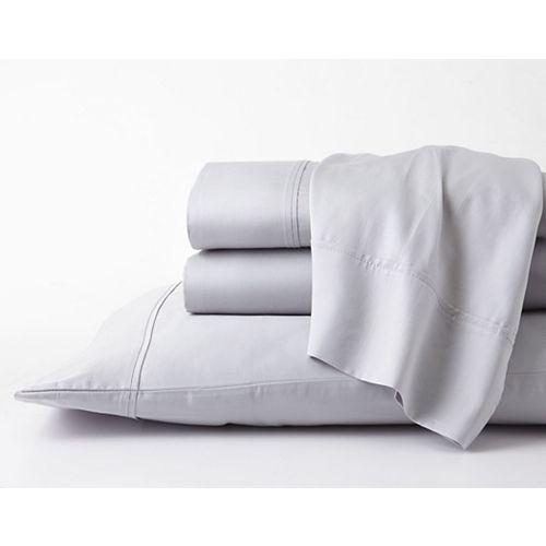 Ensemble de draps doux de luxe GhostBed Full Premium en coton Supima et Tencel - Gris