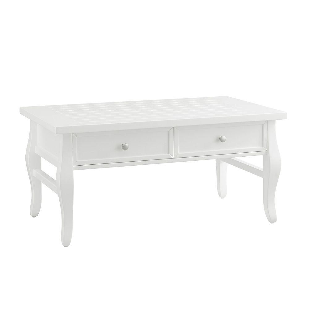 Linon Home Décor Products Chantel Table Basse Blanc