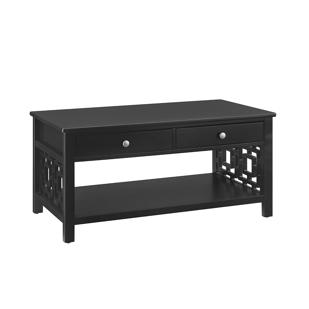 Linon Home Décor Products Natascha Coffee Table Black
