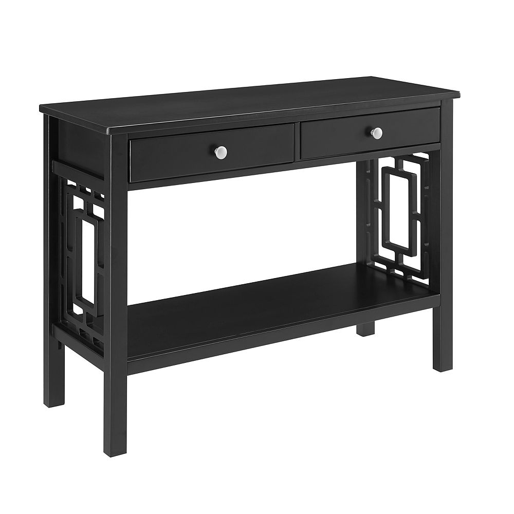 Linon Home Décor Products Natascha Console Table Black