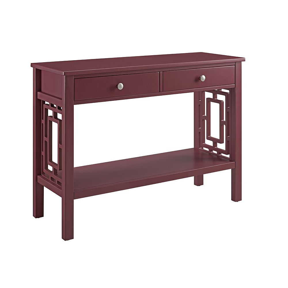 Linon Home Décor Products Natascha Console Table Merlot