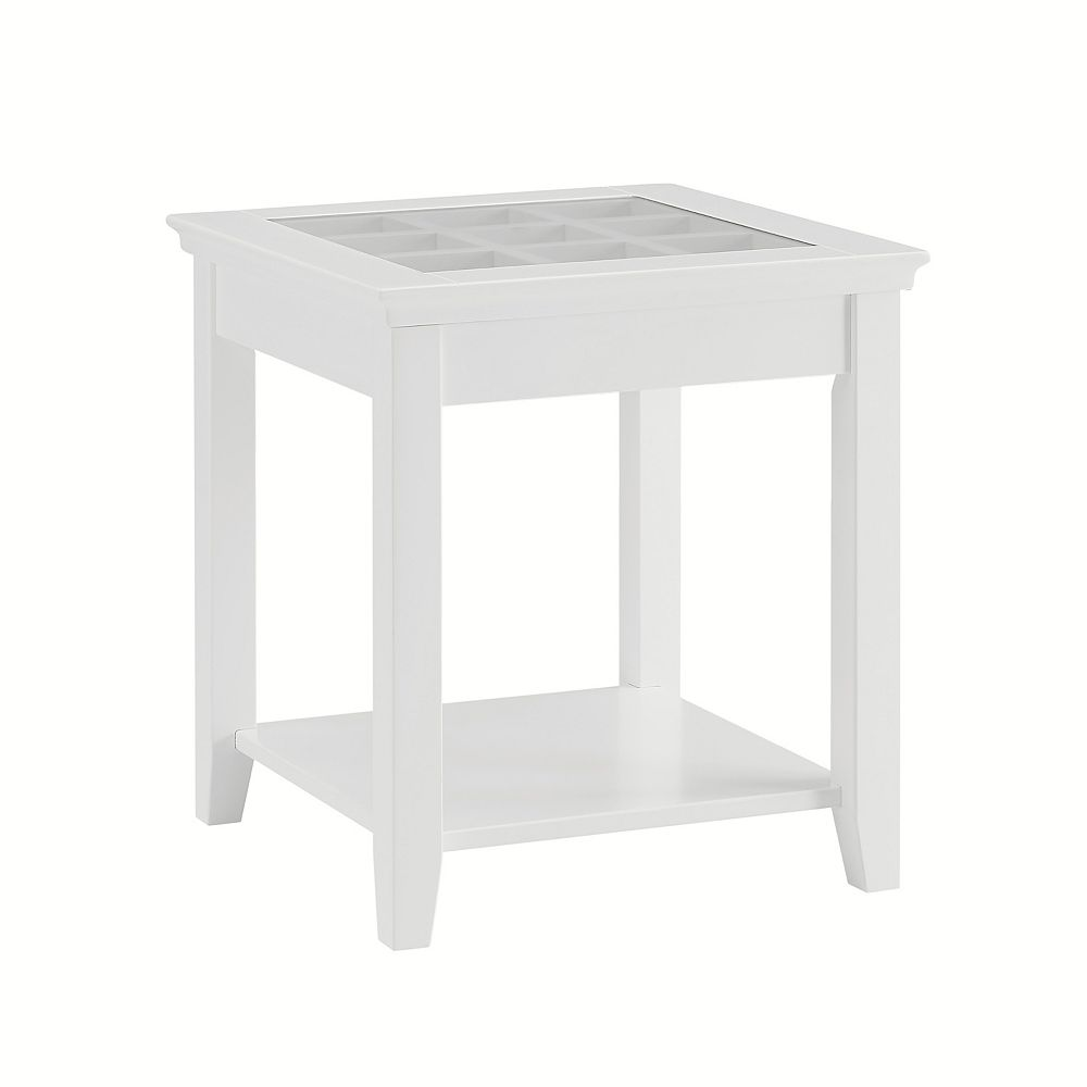 Linon Home Décor Products Table D'Extrémité Largo, Blanc