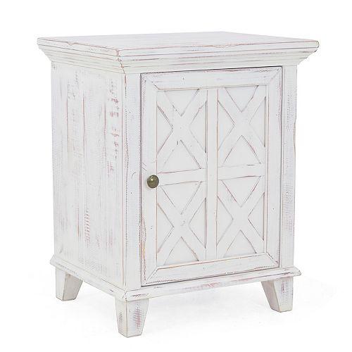 Tanglebrook 1 Door Nightstand Rustic White