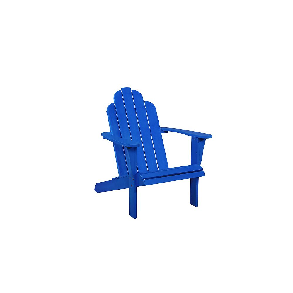 Linon Home Décor Products Chaise Adirondack Bleue Westport