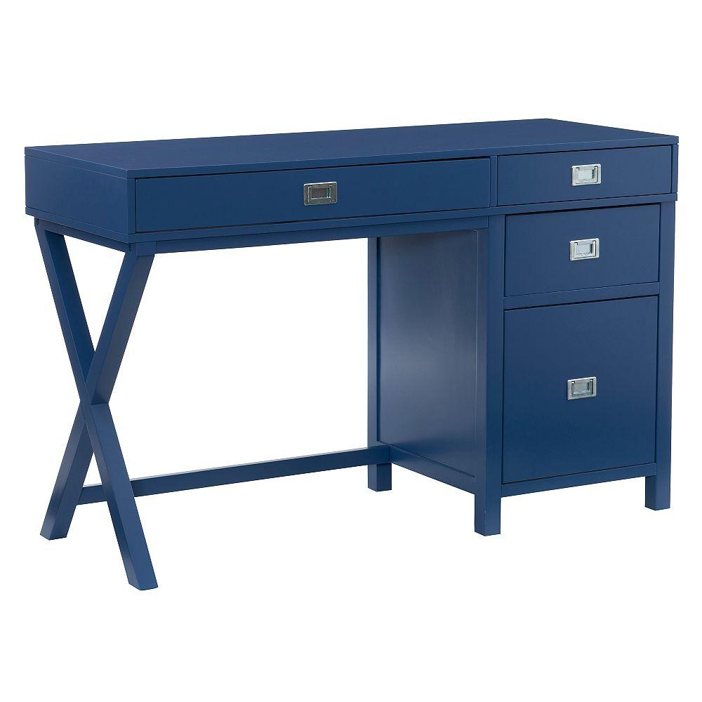 Linon Home Décor Products Bureau De Rangement Latéral Lilah Marine