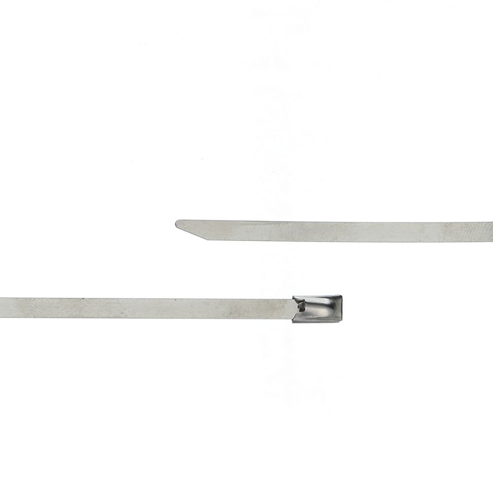 MARR 12-inch Stainless Steel Ball-Lock Cable Tie - Bag of 5