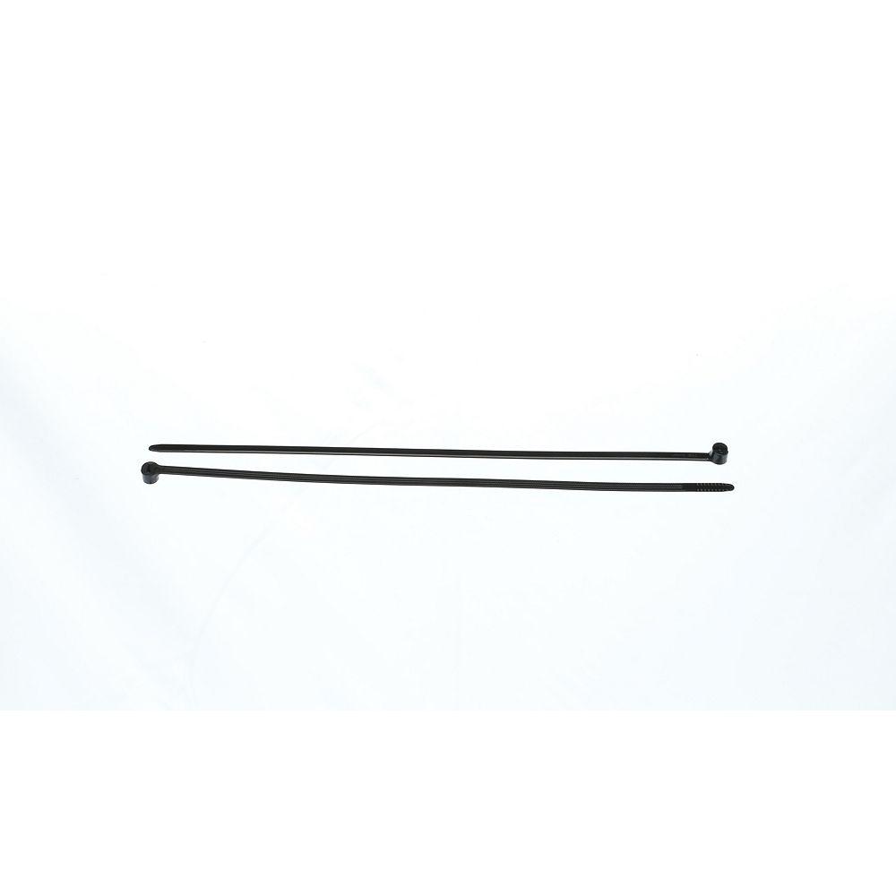 MARR 13-inch Cable Tie 2 Piece Black 120lb - Bag of 50