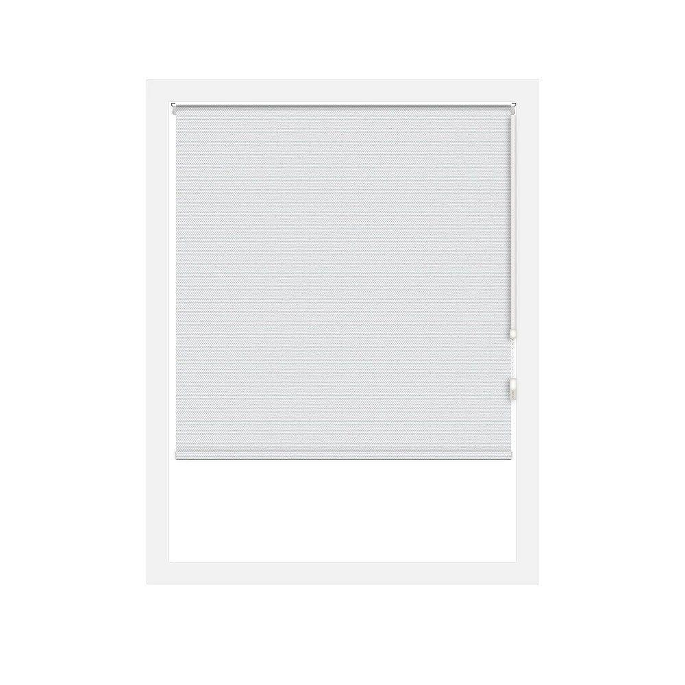 Off Cut Shades Toiles à Rouleau Occultant Rustica Blanc - 47 x 100