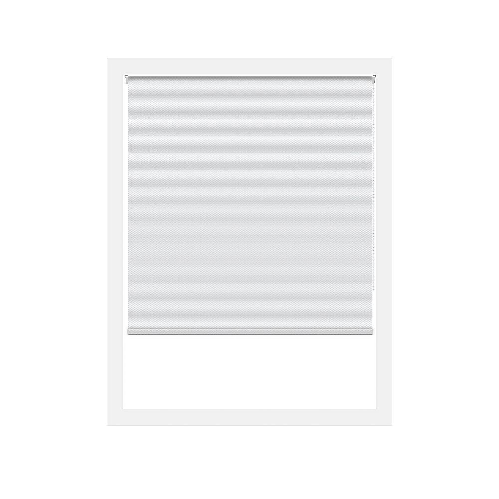 Off Cut Shades White Rustica Blackout Roller Shade - 48 x 100