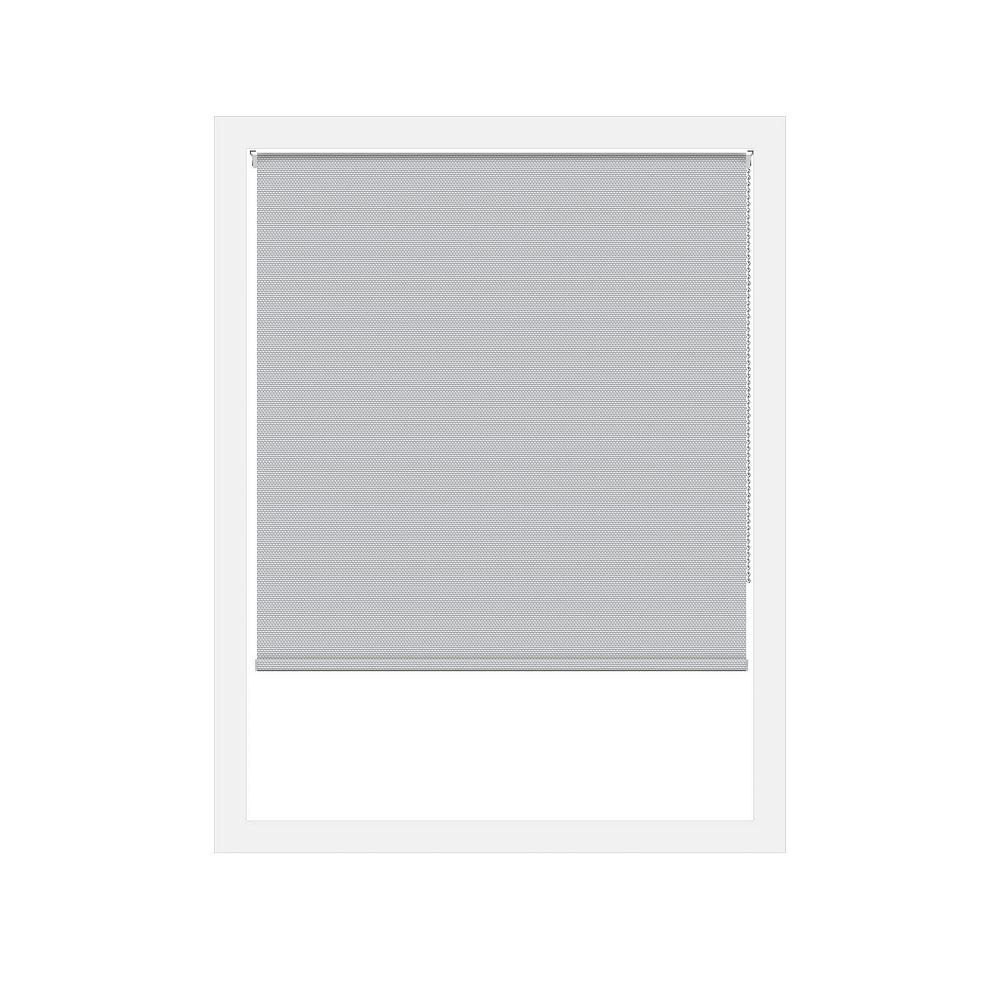 Off Cut Shades Silver Rustica Blackout Roller Shade - 49 x 100