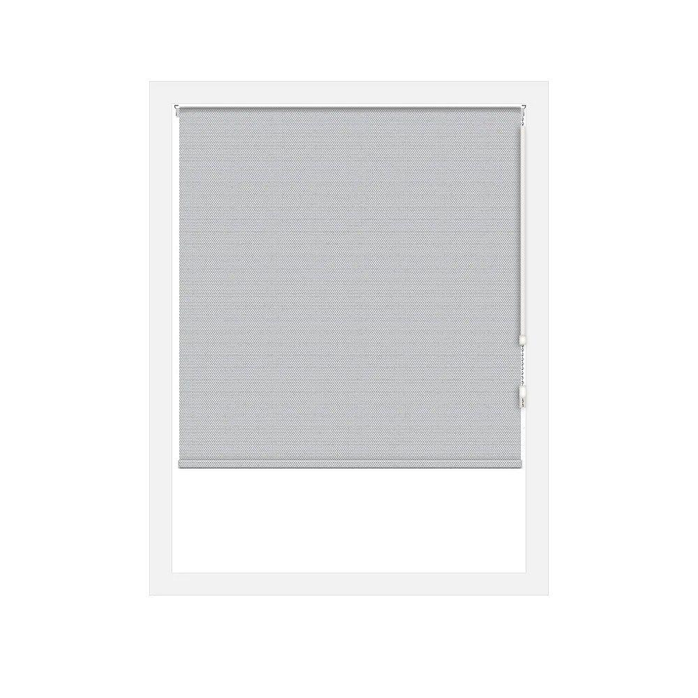 Off Cut Shades Silver Rustica Blackout Roller Shade - 74 x 100