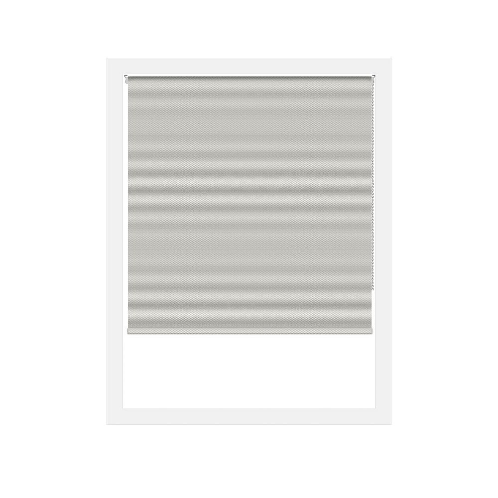 Off Cut Shades Taupe Rustica Blackout Roller Shade - 85 x 60