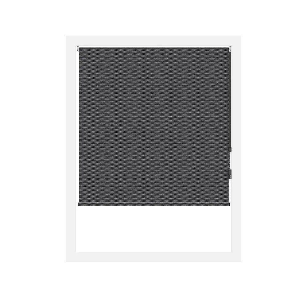 Off Cut Shades Black Rustica Blackout Roller Shade - 95 x 60