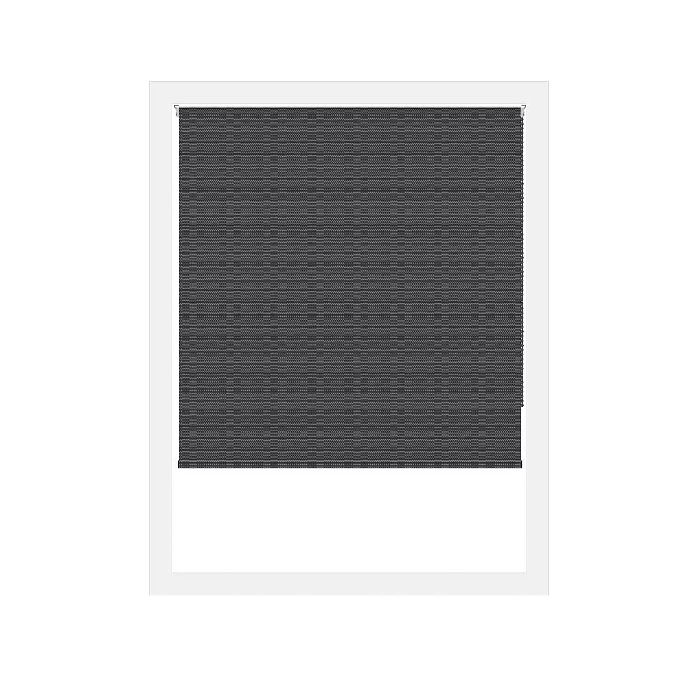 Off Cut Shades Toiles à Rouleau Occultant Rustica Noir - 32 x 100