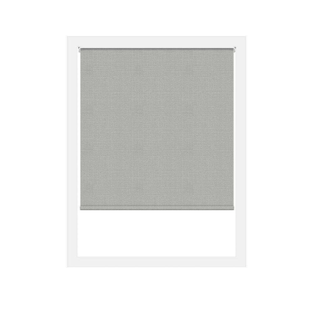 Off Cut Shades Light Grey Lima Privacy Zero Gravity Roller Shade - 50 x 60