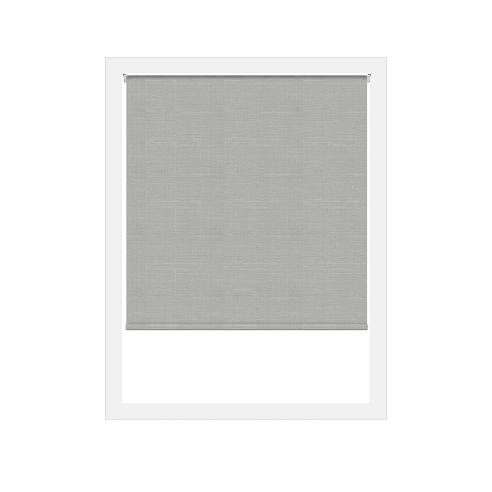 Off Cut Shades Light Grey Lima Privacy Zero Gravity Roller Shade - 52 x 60