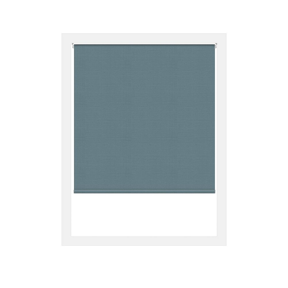 Off Cut Shades Toiles à Rouleau Zéro Gravité Privée Lima Bleu - 28 x 60