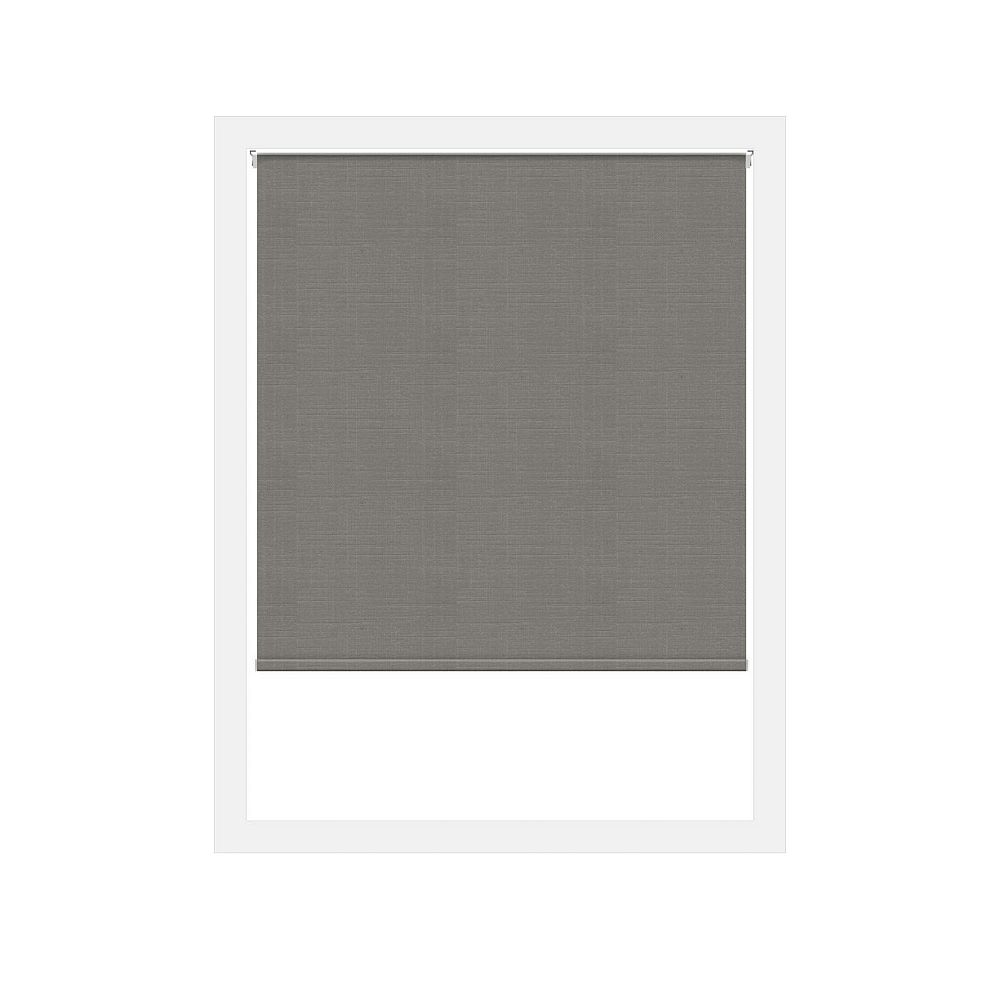 Off Cut Shades Toiles à Rouleau Zéro Gravité Privée Lima Gris Foncé - 49 x 60