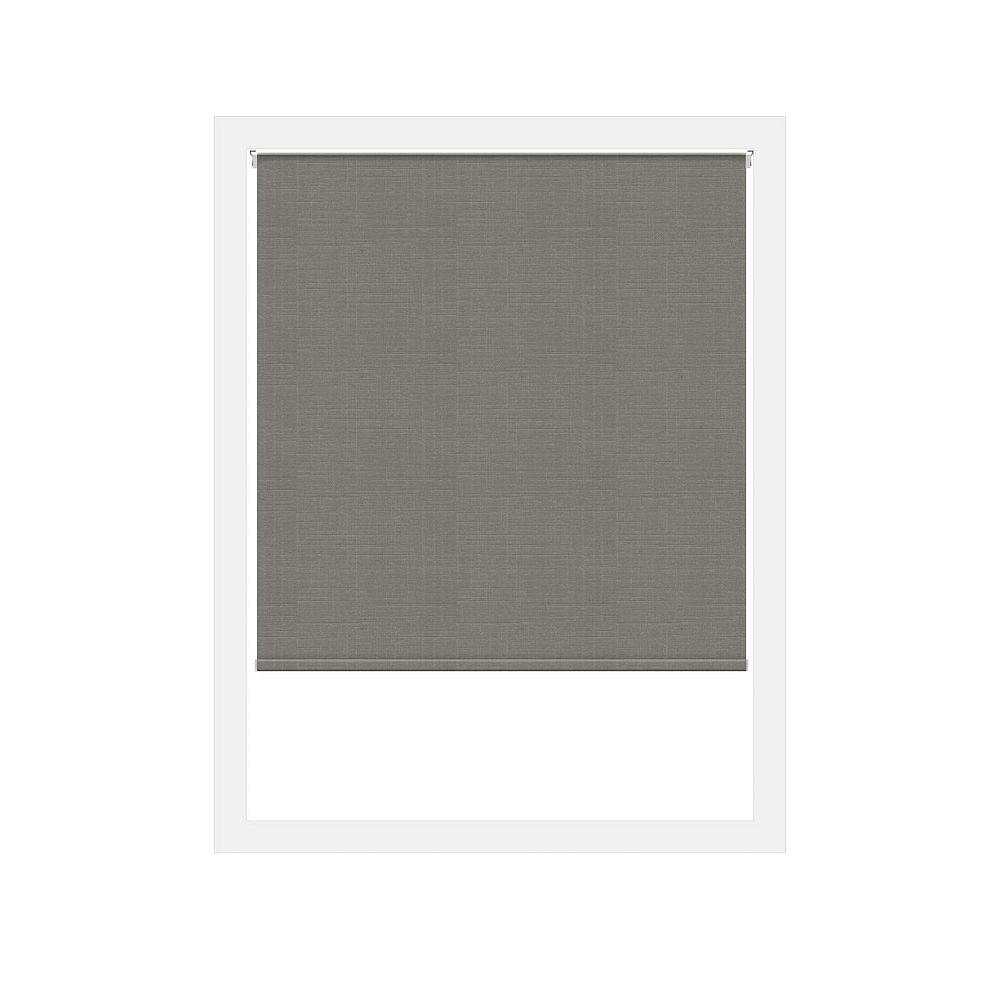 Off Cut Shades Toiles à Rouleau Zéro Gravité Privée Lima Gris Foncé - 72 x 60