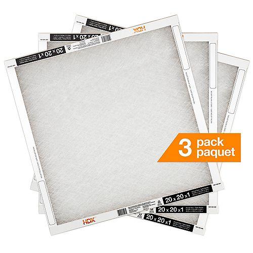20X20X1 Fiberglass Air Filter 3 Pack