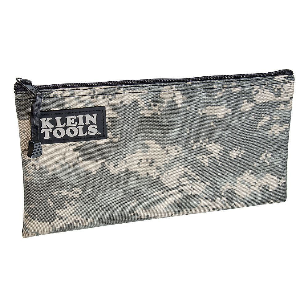 Klein Tools Zipper Bag, Camouflage Cordura Nylon Tool Pouch, 12-1/2-Inch