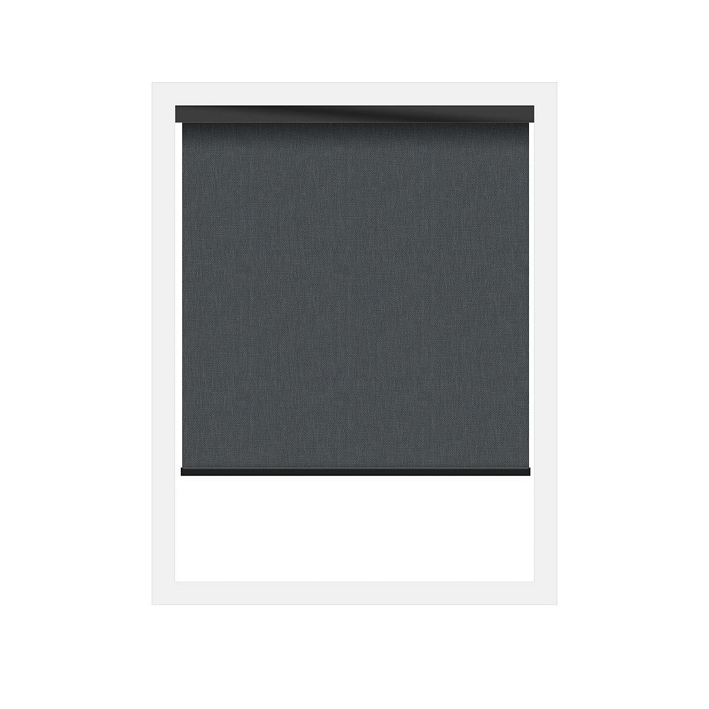 Off Cut Shades Black Sunscreen 3% Zero Gravity Roller Shade incl. Valance - 49 x 60
