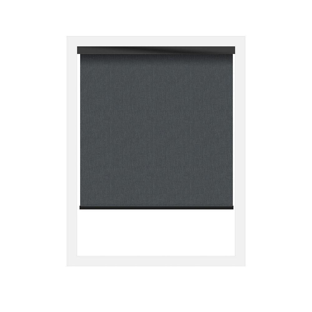 Off Cut Shades Écrans soleil 3% Zero Gravity avec cantonnière carrée en noir - 56 x 60