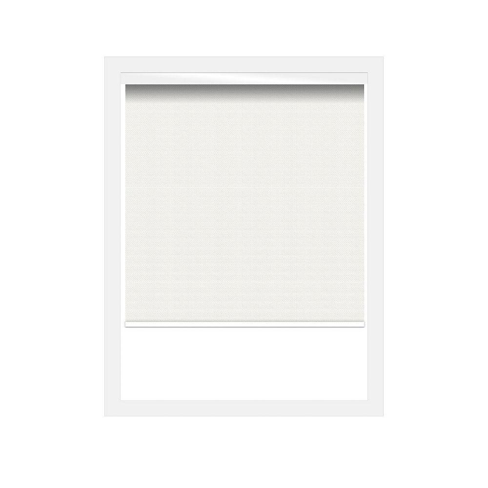 Off Cut Shades White Sunscreen 3% Zero Gravity Roller Shade incl. Valance - 24 x 60