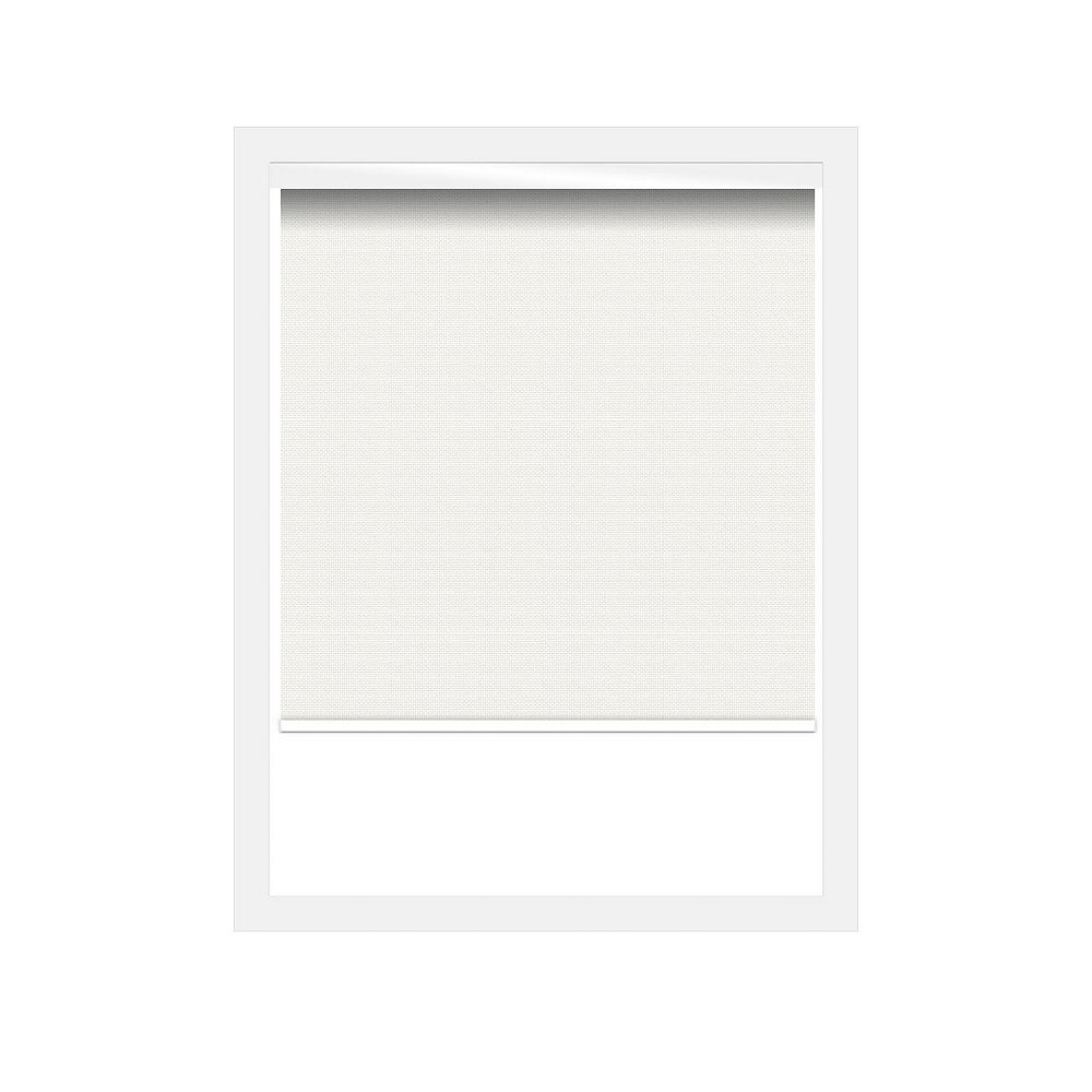 Off Cut Shades White Sunscreen 3% Zero Gravity Roller Shade incl. Valance  - 78 x 100