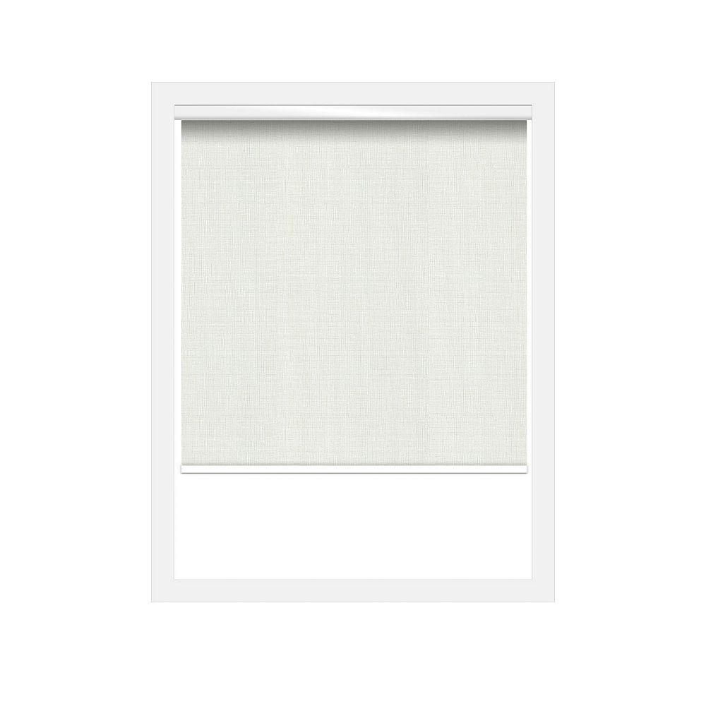 Off Cut Shades Store à Rouleau Blanc sans chaîne Nature  - 25 x 90