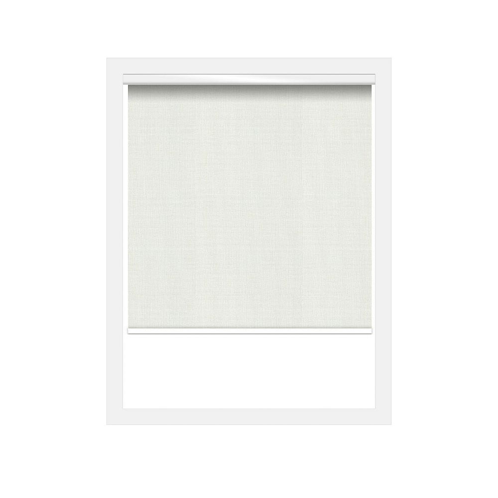 Off Cut Shades Nature White Privacy Chainless Roller Shade incl. Valance  - 53 x 90