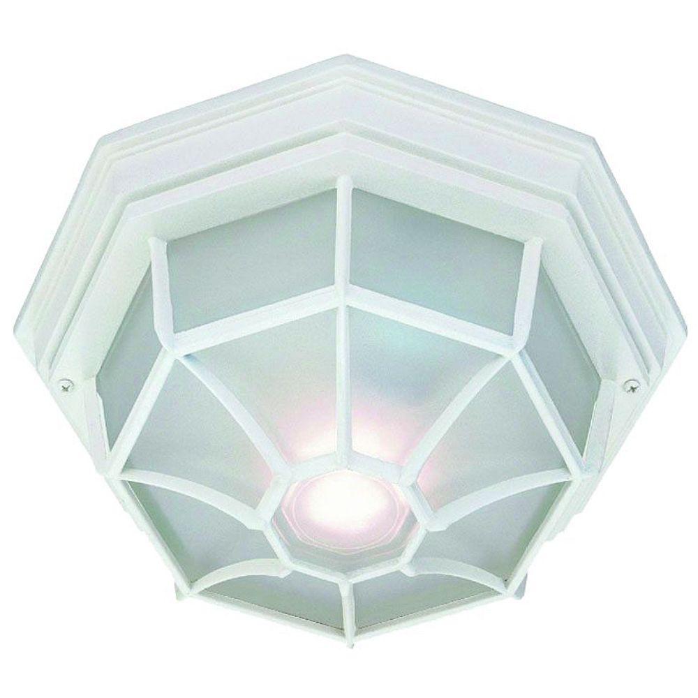 Acclaim Lighting Plafonnier Collection 60W à 2 ampoules extérieur Plafonnier en blanc texture finition