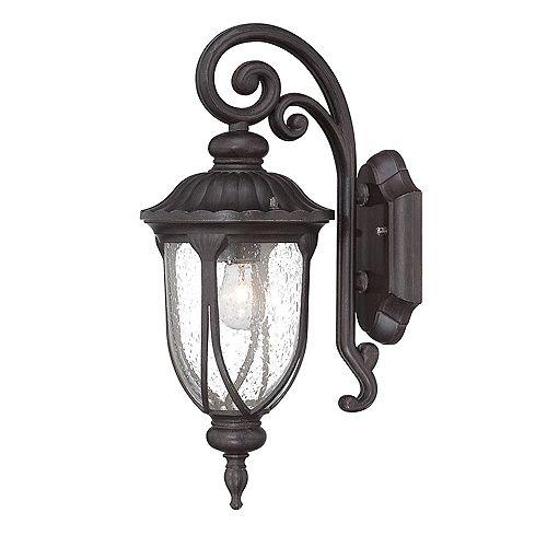 Acclaim Lighting Laurens 100W 1-Light Black outdoor Wall Lantern