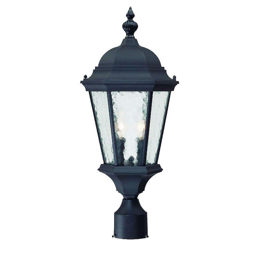 Acclaim Lighting Telfair Collection Post-Mount 2-Light 60W Outdoor Matte Black