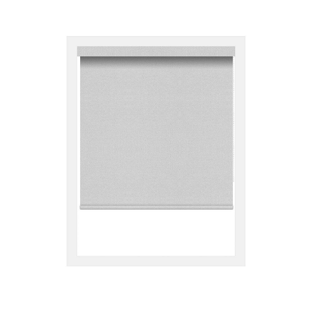 Off Cut Shades Bright White Crystaline Opaque Black Out Roller Shade - 74 x 100