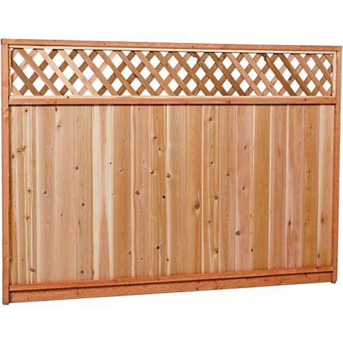 Panneau de clôture en treillis de cèdre Sugi Premium 6x8