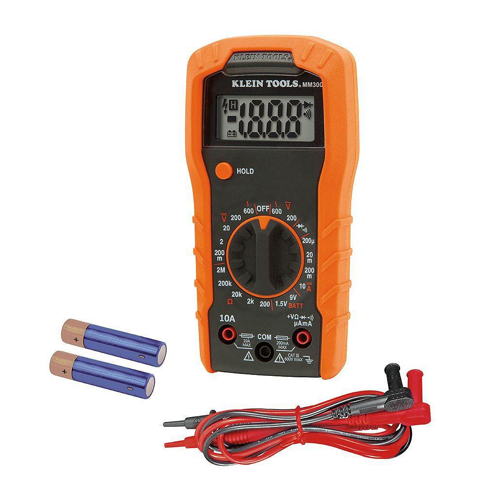 Klein Tools Multimètre numérique, à échelle automatique, 600 V