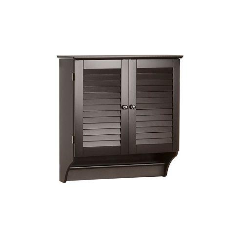 Espresso Wall Mounted Bathroom Cabinets, Black Wall Cabinet For Bathroom