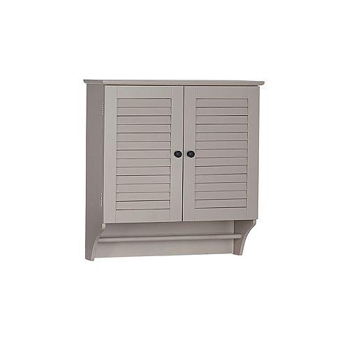 Ellsworth 23.82-inch W x 25-inch H x 8.86-inch D Bathroom Storage Wall Cabinet in Taupe