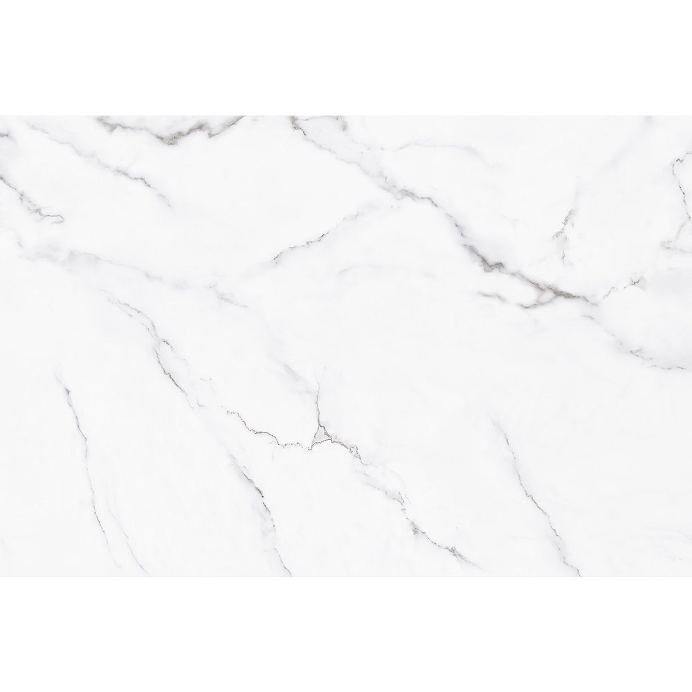 Surface Design Self-adhesive tile, Marble collection, White Marble colour, 15 3/4'' x 31 1/2''