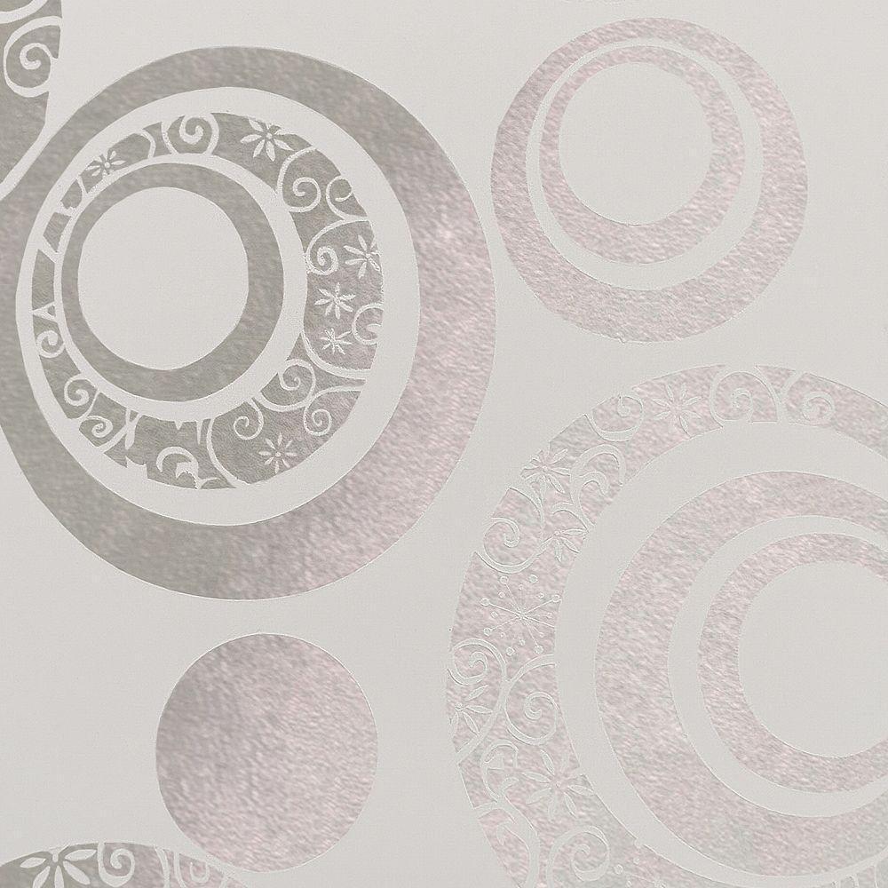 Dundee Deco Papier peint auto-adhésif, Falkirk McGowen, 35.5 pi², cercles beige mat