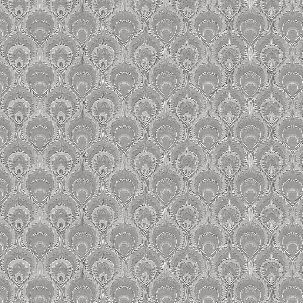 Dundee Deco Falkirk McGowen 35.5 sq. ft. Peel and Stick Grey Droplets Wallpaper