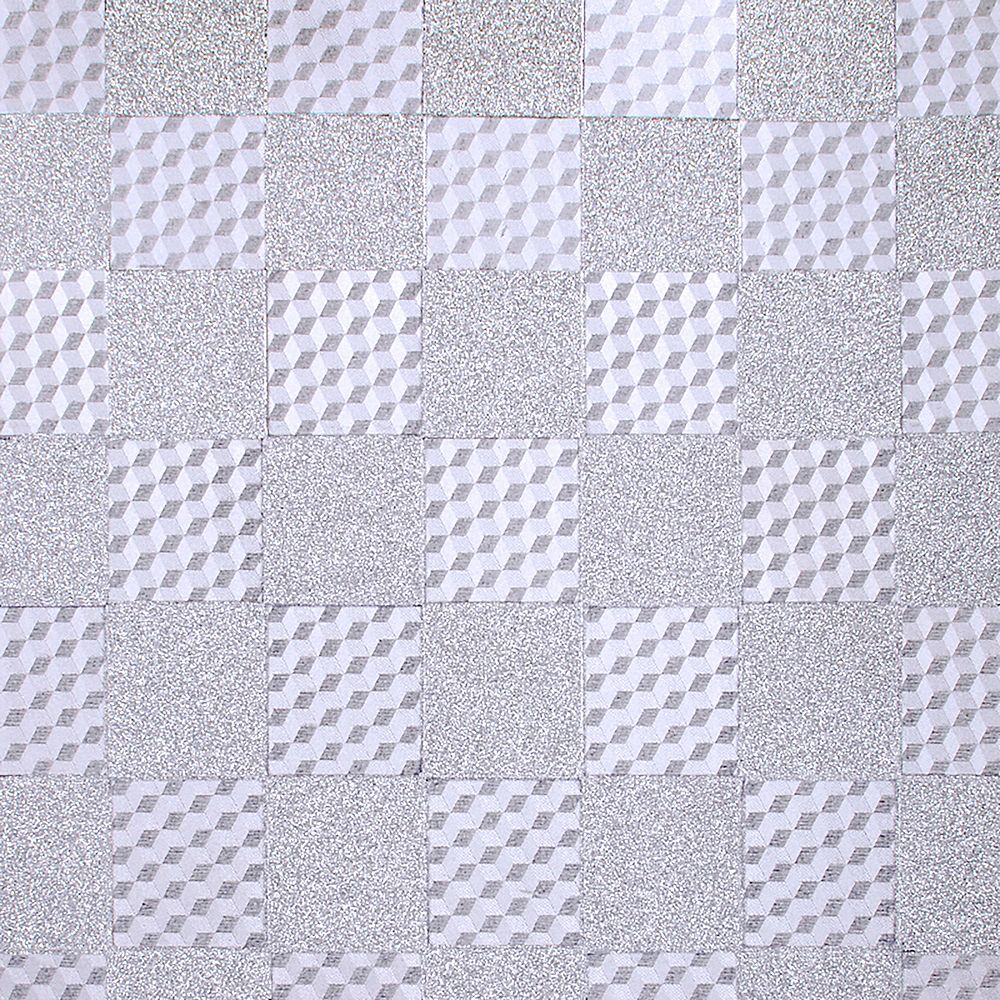 Dundee Deco Falkirk McGowen 26.6 sq. ft. Peel and Stick Silver Tiles Wallpaper