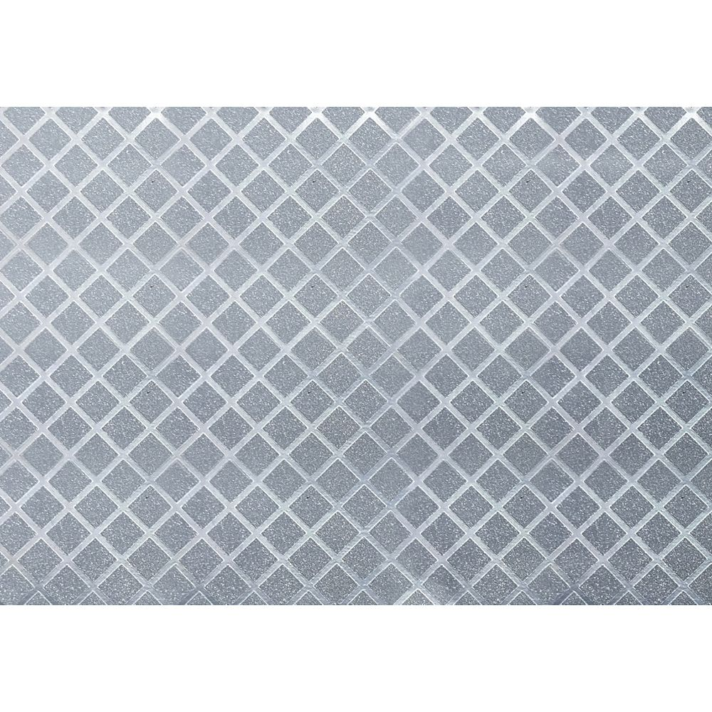 Dundee Deco Falkirk McGowen 26.6 sq. ft. Peel and Stick Silver Rhombus Tiles Wallpaper