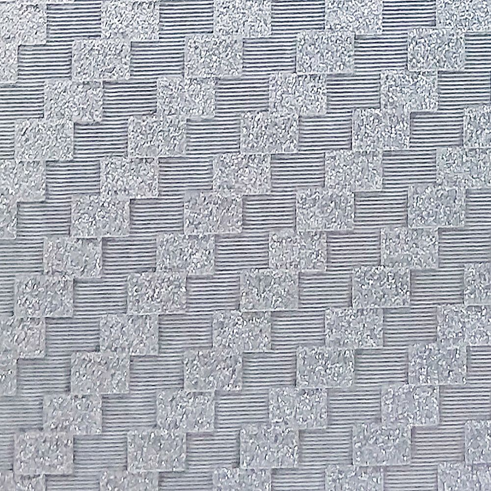 Dundee Deco Falkirk McGowen 26.6 sq. ft. Peel and Stick Silver Grey Tiles Wallpaper