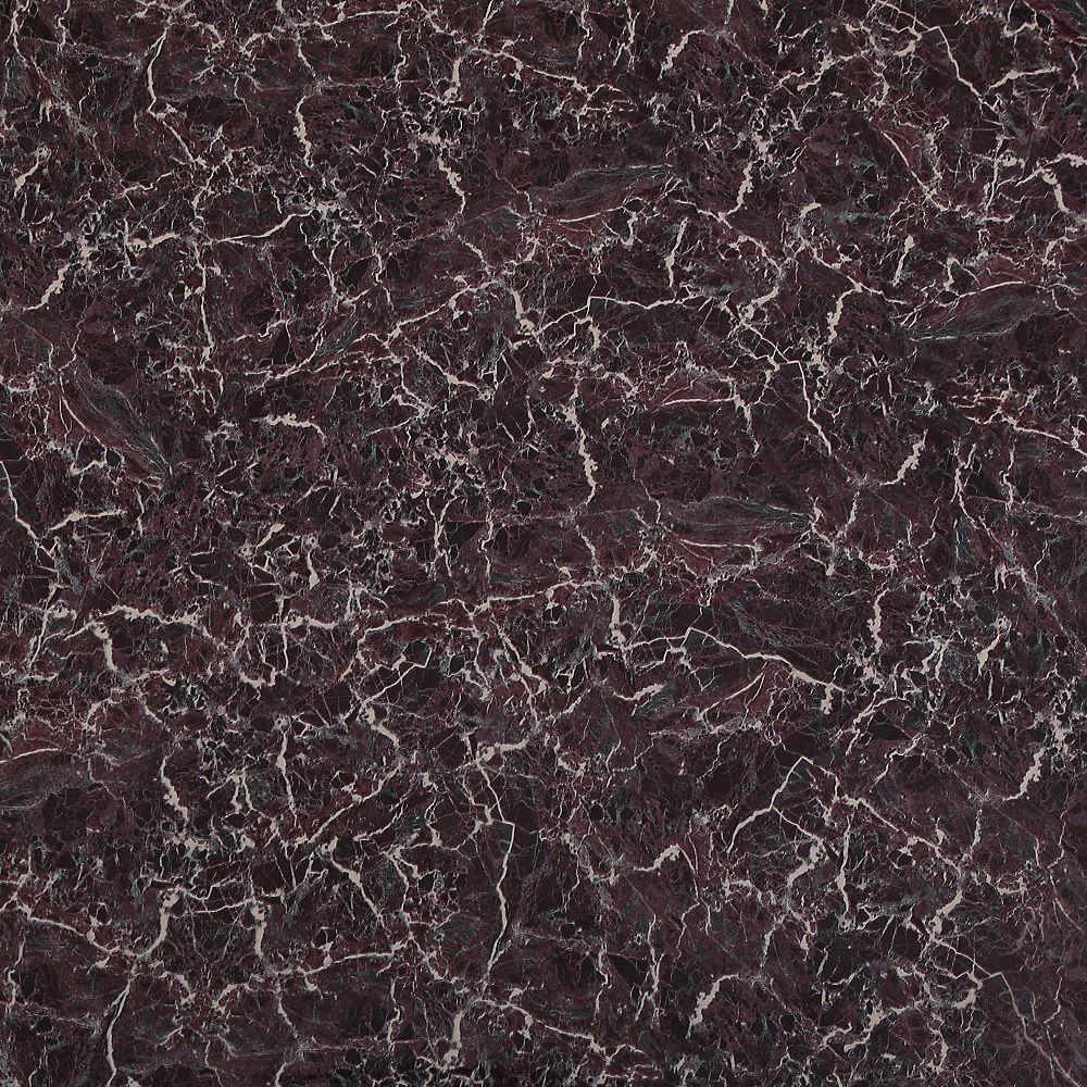 Dundee Deco Papier peint auto-adhésif, Falkirk McGowen, 35.5 pi², marbre craquelé patine noir foncé mauve